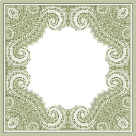 Vector abstract ornamental vintage ethnic frame