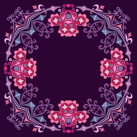 Floral vector border. Nature illustration
