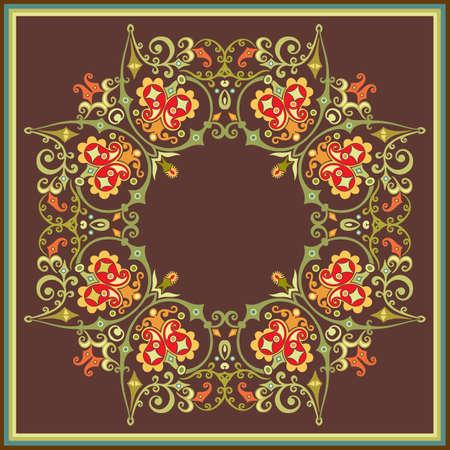 Floral vector vintage border. Frame design. Ilustração