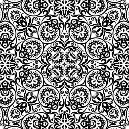 Vector ethnic hand drawn ornamental background. Иллюстрация