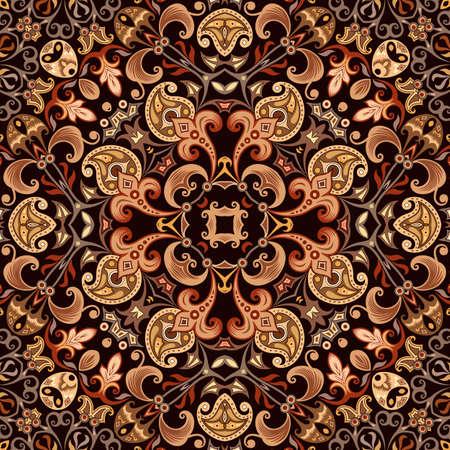 Vector ethnic nature ornamental background