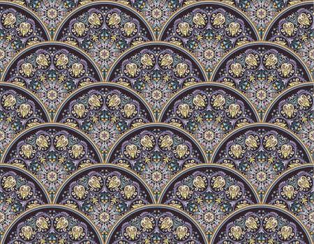 Vector seamless pattern. Ethnic nature background Иллюстрация