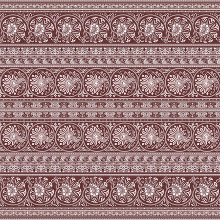 Abstract ethnic floral pattern, vector background