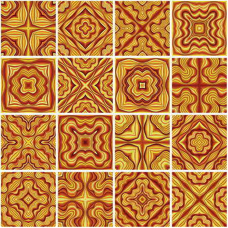 Abstract vector ethnic elements background.