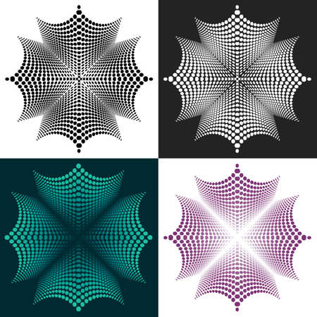 Set of abstract vector geometric elements