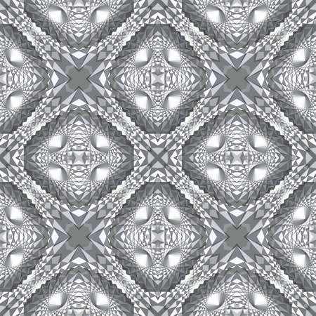 Abstract geometric futuristic seamless pattern Ilustrace