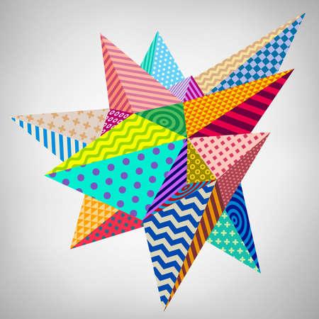 Abstract geometric modern asymmetric form design