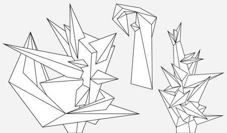 Abstract geometric modern asymmetric forms Vektoros illusztráció