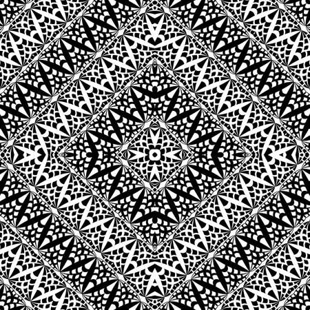 Vector abstract lace hand drawn seamless pattern Vecteurs