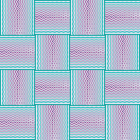 Abstract vintage geometric patch seamless pattern. Ilustração