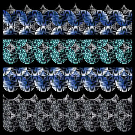 Geometric forms stripes with distortion effect Vecteurs
