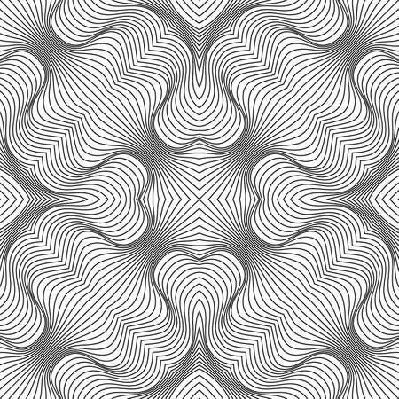 Vector abstract lines pattern. Waves background Ilustración de vector
