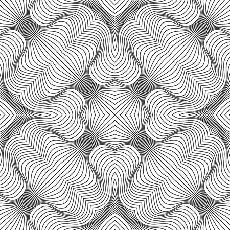 Vector abstract lines pattern. Waves background Vector Illustration