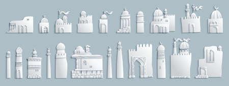 Vector east cartoon buildings. Ilustração