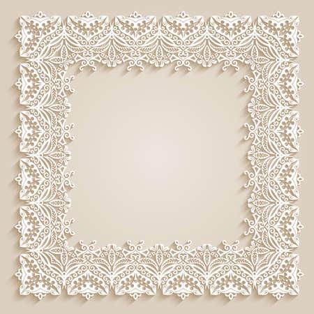 Abstract ornamental nature vintage frame.