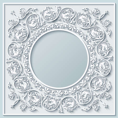 Abstract vector ornamental nature color vintage frame.