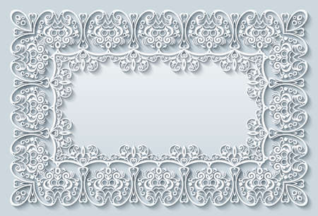 Abstract vector ornamental nature vintage frame.