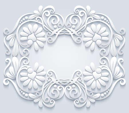 Abstract vector ornamental nature vintage frame. Vector Illustratie