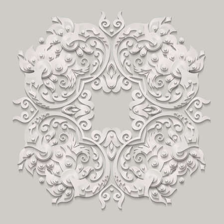 Vector modern volumetric floral elements Vector Illustration
