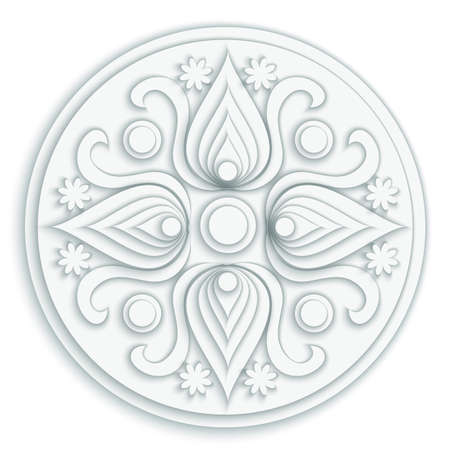Vector modern paper cut floral element