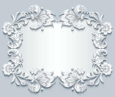 Floral vector vintage border
