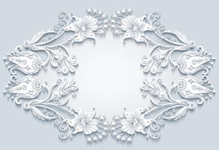 Floral vector vintage border.