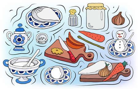 Home Cooking vector illustration Illustration