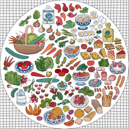 Home Cooking vector illustration Vectores