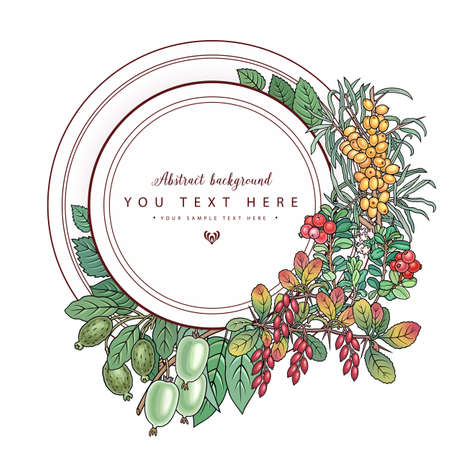 Berries and fruits hand drawn doodles illustration Vectores
