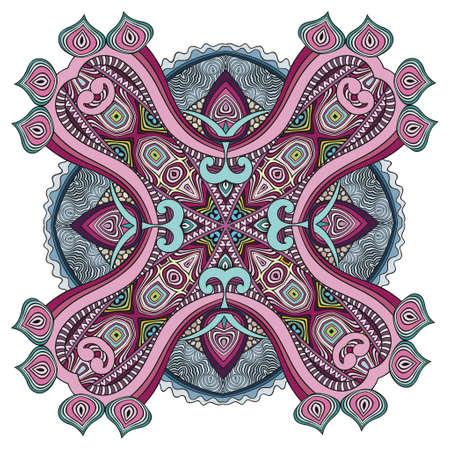 Vector decorative ornamental flower illustration