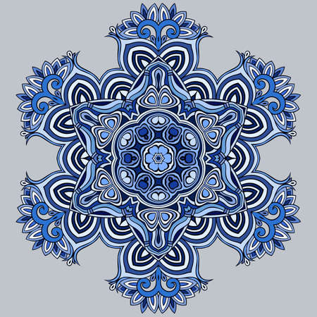 Vector ornamental snowflake illustration