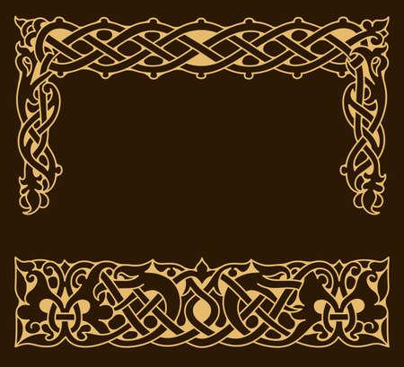 Ethnic ornamental vintage frame.