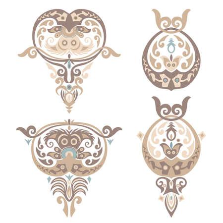 Vector ornamental nature vintage design elements