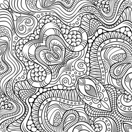 Vector abstract ethnic hand drawn pattern