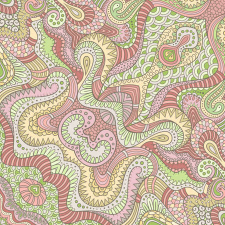 Vector abstract ethnic hand drawn seamless pattern