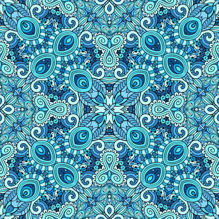 Vector ethnic hand drawn color seamless pattern Vetores