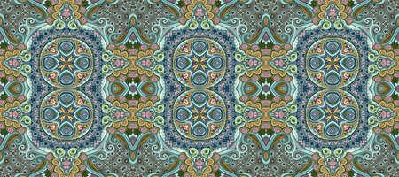 Vector ethnic ornamental color seamless pattern stripe