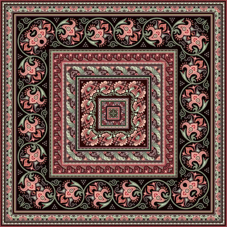 Vector decorative ethnic ornamental illustration Ilustracje wektorowe