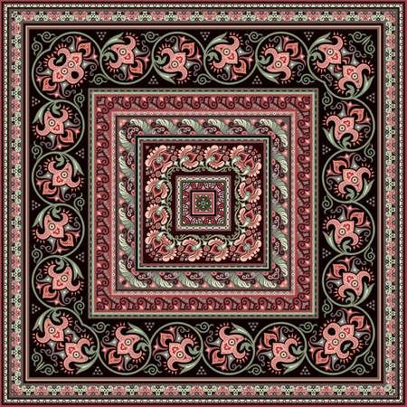 Vector decorative ethnic ornamental illustration Vetores