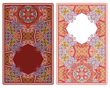 Set of vector abstract ornamental nature frames Vector Illustration