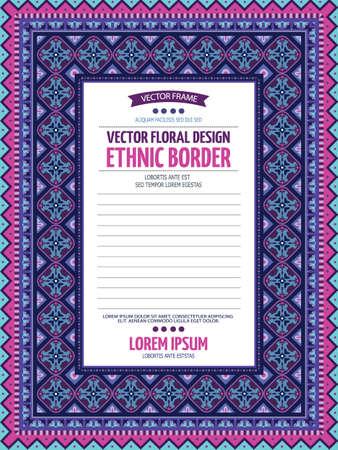 Vector decorative floral ethnic illustration