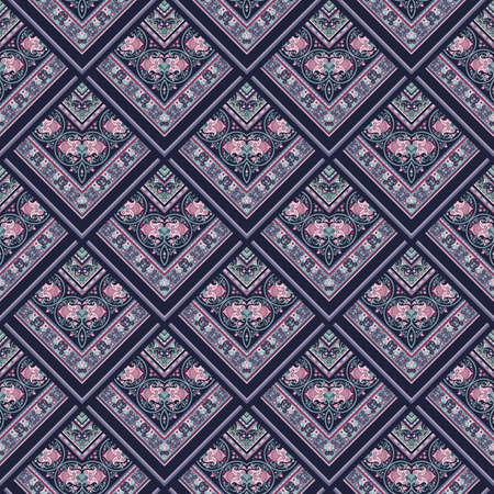 Vector nature patch pattern. Mosaic background