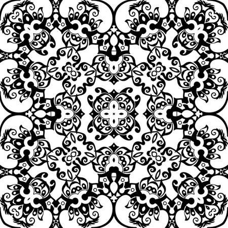 Vector ethnic hand drawn ornamental background.