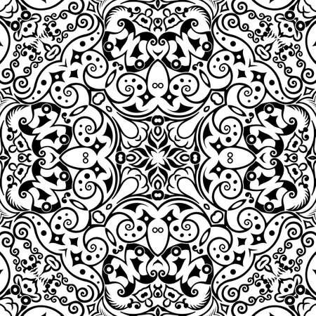 Vector ethnic hand drawn ornamental background.