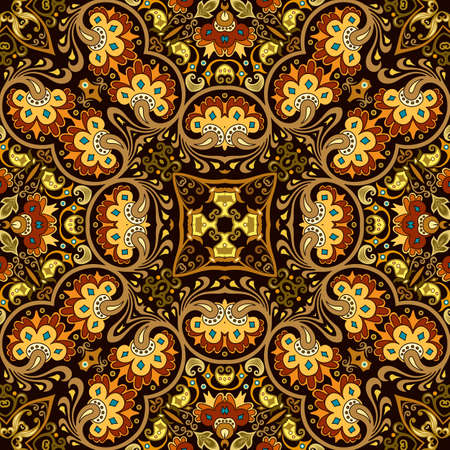 Vector ethnic nature ornamental background