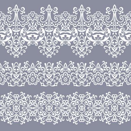 Abstract ethnic nature seamless line art stripes Vektorové ilustrace
