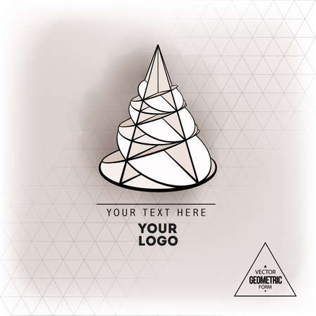 Vector geometric figure cone design