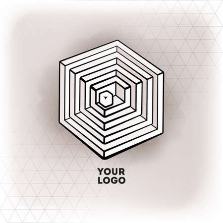 Vector geometric figure cube design