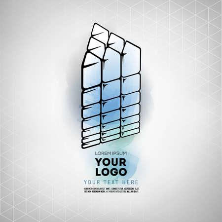 Vector geometric figure prism design