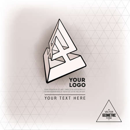 Vector geometric figure pyramid design